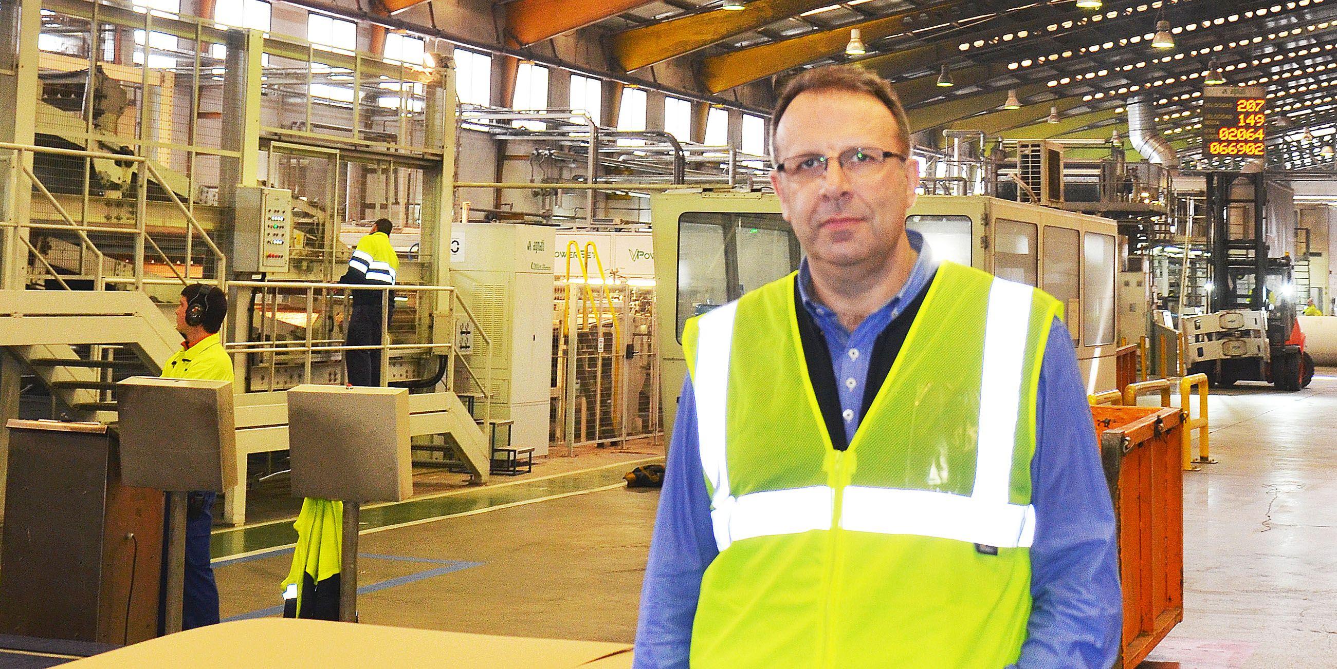 José Luis Pomar, director gerente de la planta